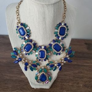 "Bebe Bib Gemstone Necklace 18"""